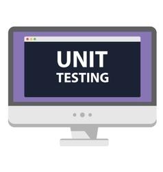 Web development computer display unit vector