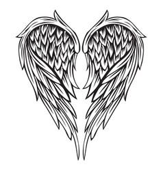 Wings bird black white 555 vector