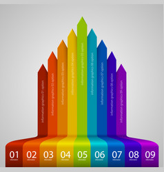 arrows business growth rainbow vector image vector image
