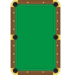 billiard table vector image vector image