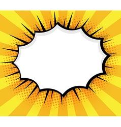 Blank Speech Bubble Pop Art Comic Book vector image