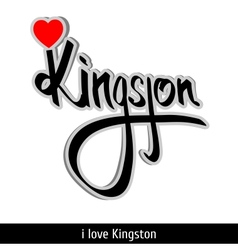 Kingston greetings hand lettering Calligraphy vector image