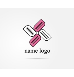 logo for web design shape label vector image vector image