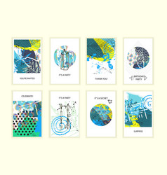 universal abstract posters set vector image