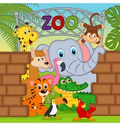 animals at the zoo vector image vector image