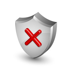 Error notification shield icon vector image vector image