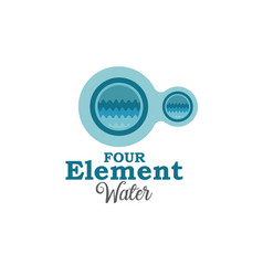 four element water vector image vector image
