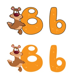 letter B bear vector image vector image