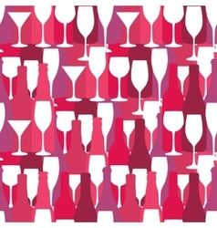 Seamless background with wine and cocktail bottles vector image vector image