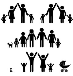 silhouettes of family vector image vector image