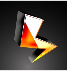 3d color lightning icon vector image