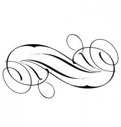 decorative script detailed vector image vector image