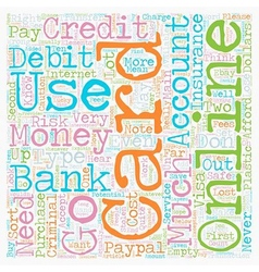 How To Use A Credit Card Online Safely text vector image