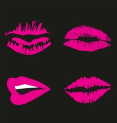 Pink Lips logo icon symbol free vector image