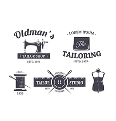 Tailor Emblems 1 vector image vector image
