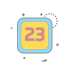 23 date calender icon design vector