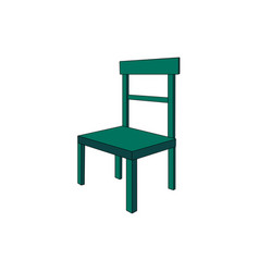 a green chair isolated on a white vector image