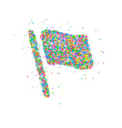 Abstract flag splash vector