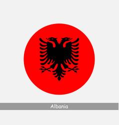albania round circle flag vector image