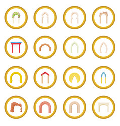 arch icon circle vector image