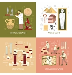 Archeology Concept vector