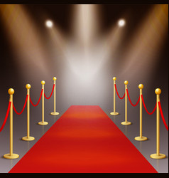 Award ceremony red carpet illuminated by vector