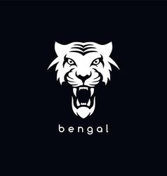 bengal white tiger logotype vector image