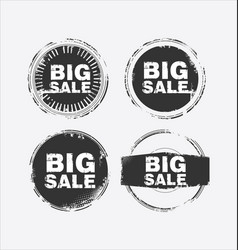 big sale stamp 4 vector image