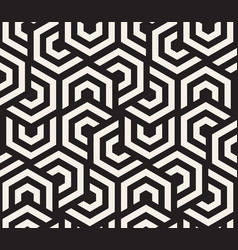 Black and white hypnotic background abstract vector