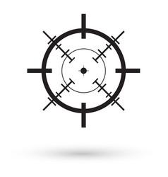 black crosshair icon vector image