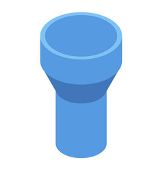 Blue gutter icon isometric style vector