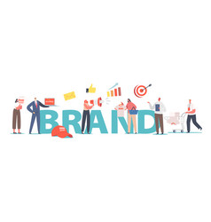 brand concept customer character buy branded vector image