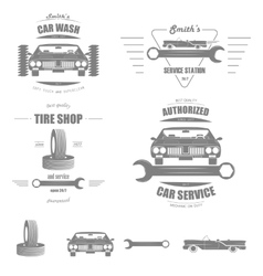 Car Service Badge Set vector image