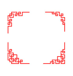 chinese ornament for corner in linear art vector image