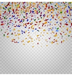 Colorful confetti on checkered background vector