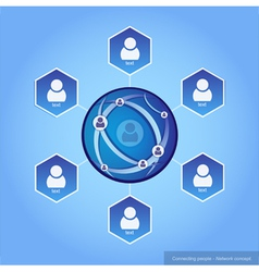 Connecting people - Network concept vector image