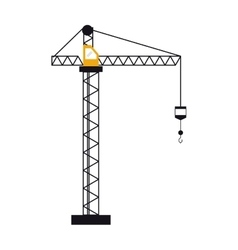 crane hook construction machine vector image