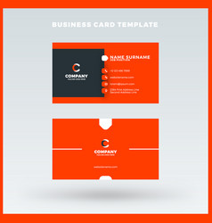 Creative and clean double-sided business card vector