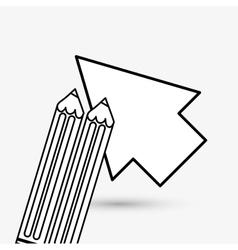 cursor design Colorfull vector image