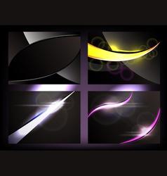 dark glowing backgrounds vector image
