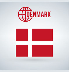 denmark flag isolated on modern background with vector image