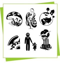 Eco Design Elements and Icons vector