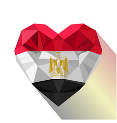 Egyptian heart flag of the egypt vector