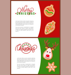 fresh gingerbread christmas cookies holiday treat vector image