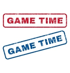 Game Time Rubber Stamps vector