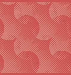 geometric seamless motif shades of coral color vector image