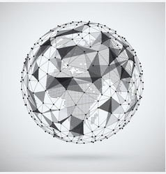 Global network sphere with a pixel map inside vector