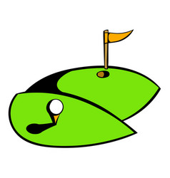 golf course icon icon cartoon vector image
