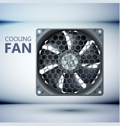 Hardware cooling system tempate vector