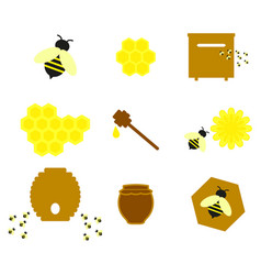honey on the set online icons colour vector image